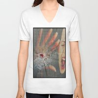 law V-neck T-shirts featuring GUN LAW by LIGGYZIGHAT