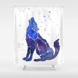 Galaxy Wolf Lupus Constellation Duschvorhang