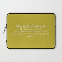 Habakkuk 1:5 x Mustard Laptop Sleeve