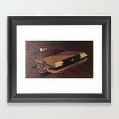 Time machine wooden marquetry Framed Art Print