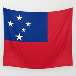 Samoan flag - Authentic version to scale and color Wall Tapestry