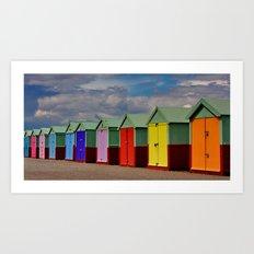 Hove Beach Huts Art Print