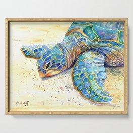 Turtle at Poipu Beach 4 Serving Tray