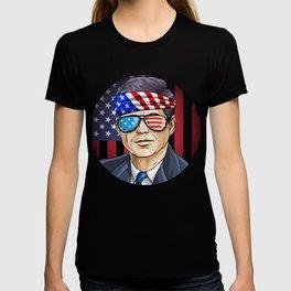 John Kennedy President on 4th Of July T-shirt