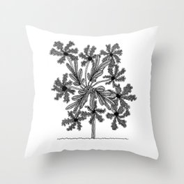 Screendoor Flower II Throw Pillow