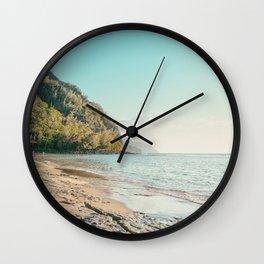Kee Beach, Hawaii Travel Photography Wall Clock