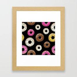 Funfetti Donuts - Black Framed Art Print