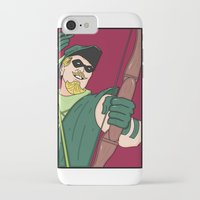 green arrow iPhone & iPod Cases featuring Green Arrow by Chelsea Herrick