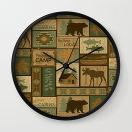 Big Bear Lodge Wall Clock