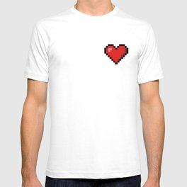 Retro Pixel Pocket Heart - Pixel Heart T-shirt
