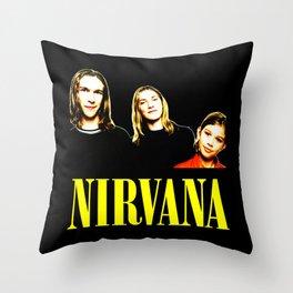 Nirvana Band Throw Pillow