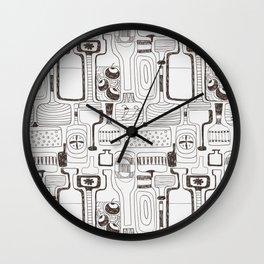 alcoholic pattern Wall Clock