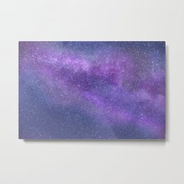 Deep Purple Milky Way Stars Metal Print