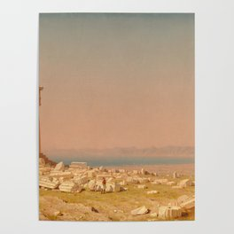 Ruins of the Parthenon Oil Painting by Sanford Robinson Gifford Poster
