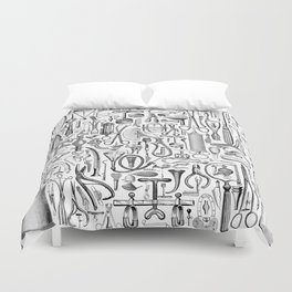 Medical Condition B&W Duvet Cover