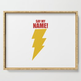Shazam (Say My Name!) DC Comics Fan Art Serving Tray