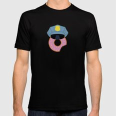 Officer Donut SMALL Black Mens Fitted Tee