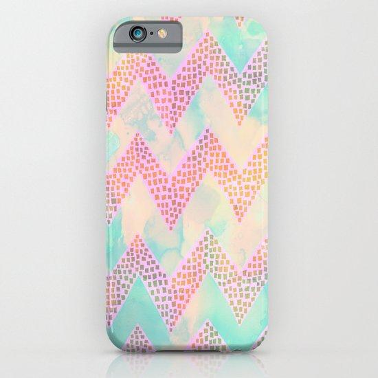 Little Squares Chevron - Pastel iPhone & iPod Case