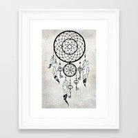 dreamcatcher Framed Art Prints featuring Dreamcatcher by Nora Bisi