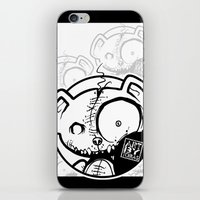 infamous iPhone & iPod Skins featuring Infamous Bear Logo by TobiasGebhardt