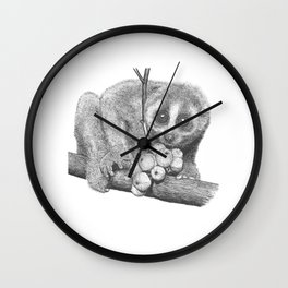 Slow Loris (Kera Duku) Wall Clock