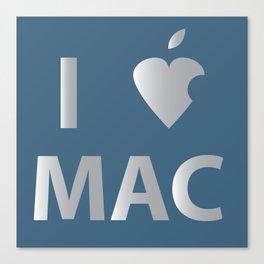 I heart Mac Canvas Print
