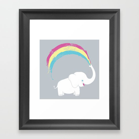 Elephant Painting! Framed Art Print
