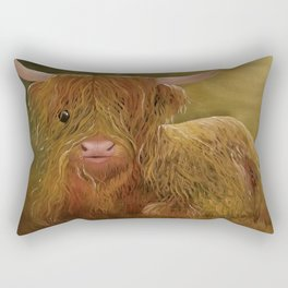 Highland Cow, Scotland Cow, Cute Highland Cow, Scotland Highlands Cow, Ferdinand, Cute Cow, Hairy Co Rectangular Pillow