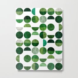 Jade fashion pattern Metal Print