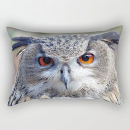 Eurasian Eagle-Owl, Uhu Rectangular Pillow