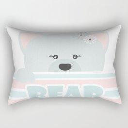 A curious bear . Rectangular Pillow