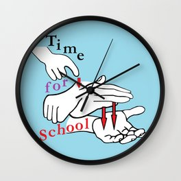 ASL Time for School Wall Clock