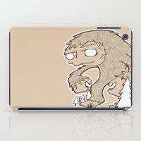 sasquatch iPad Cases featuring Sasquatch by rebecca miller