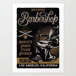Gentlemen's Barber Shop LA Art Print