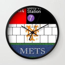 NYC Mets Subway Wall Clock