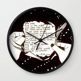 "Inktober, Day 19 ""Scorched"" #inktober #inktober2018 Wall Clock"