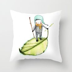 Pedro woodland people Throw Pillow