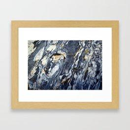 Marble Rock Framed Art Print