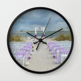 Wedding on the Beach Wall Clock