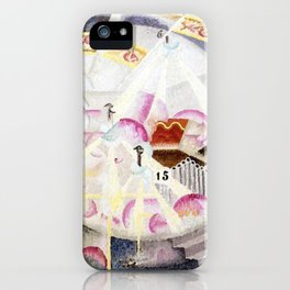 Festival in Montmartre, Paris by Gino Severini iPhone Case