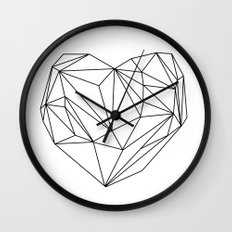 Heart Graphic (black on white) Wall Clock