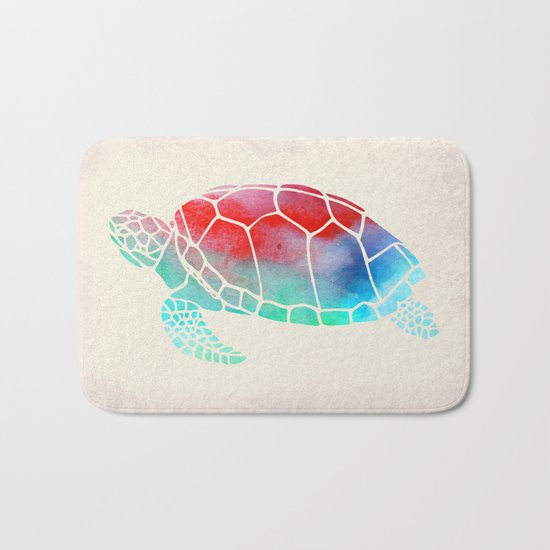 Watercolor Turtle Bath Mat