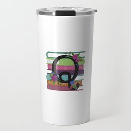Bookish Monogram Collection Q Travel Mug