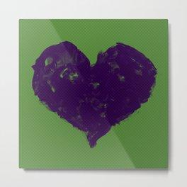 Feel in Watercolour: Violet/Green Metal Print