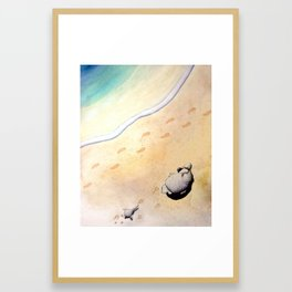 Last Footprints Framed Art Print