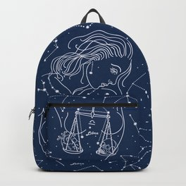Libra zodiac sign Backpack
