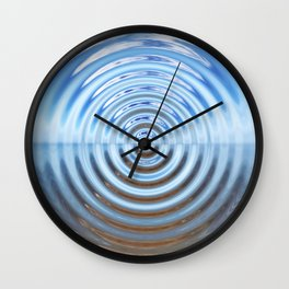 Warped Beach Wall Clock