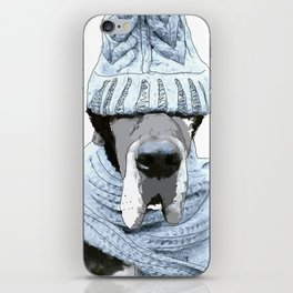 Great Dane Winter is Here iPhone Skin