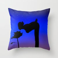 le petit prince Throw Pillows featuring Le Petit Prince by mariavilla