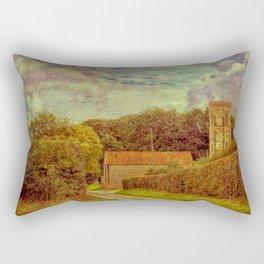 The Old Church Tower Rectangular Pillow